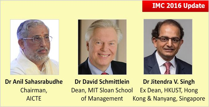 Indian Management Conclave, being held at IIM Ahmedabad on August 5-6, 2016. IMC 2016 will see the Conclave inaugural address by Dr Ashish Nanda, Director, IIM Ahmedabad