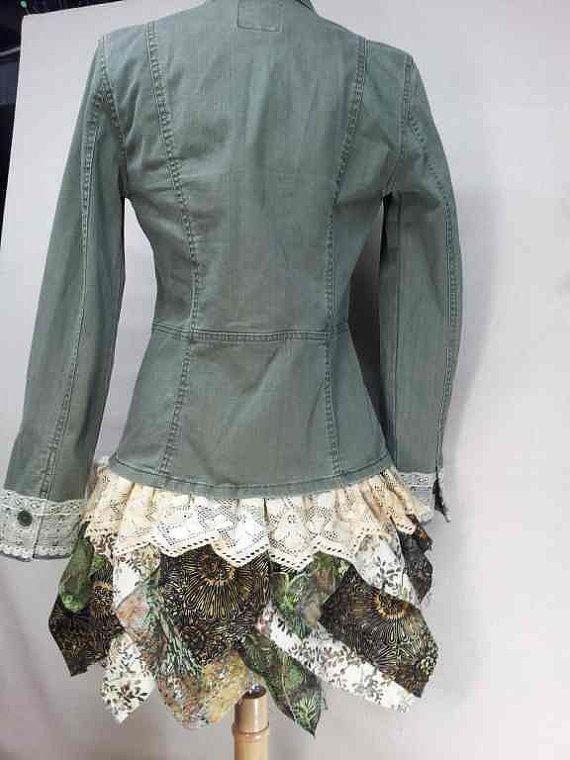 Upcycled lace jacket garderobe pinterest jakker for Garderobe jacke