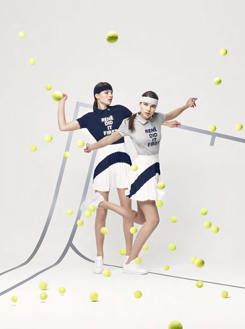 "La collection ""Rene Dit It First"" de Lacoste"