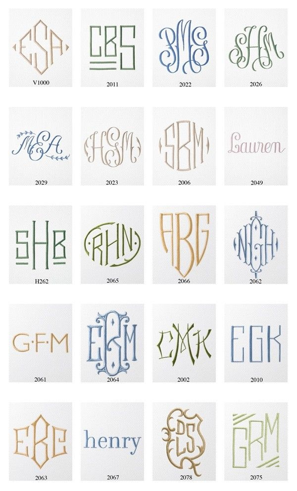 Monograms for bedding