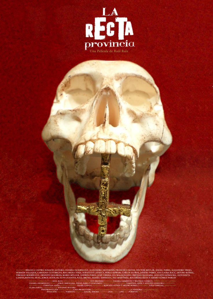 """Afiche: """"La Recta Provincia"""" con técnica objeto/escultura."""