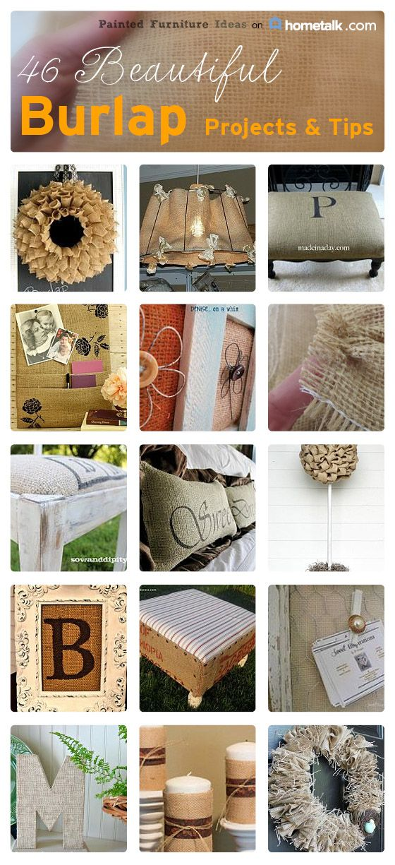 There are so many things you can do with burlap to decorate your home.  You can use burlap to create wreaths, integrate into furniture reupholstering, lampshades and so much more.  The list is endless.   Here is a roundup of some of my favorite burlap projects and tips on Hometalk. …