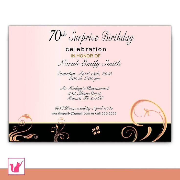 25 best Adult Birthday Invitations images on Pinterest | Monograms ...