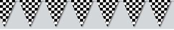 Get ready for the big race with our Checkered Flag Pennant Banner. The Race Banner is 12 feet long and features 12 plastic checkered flags.