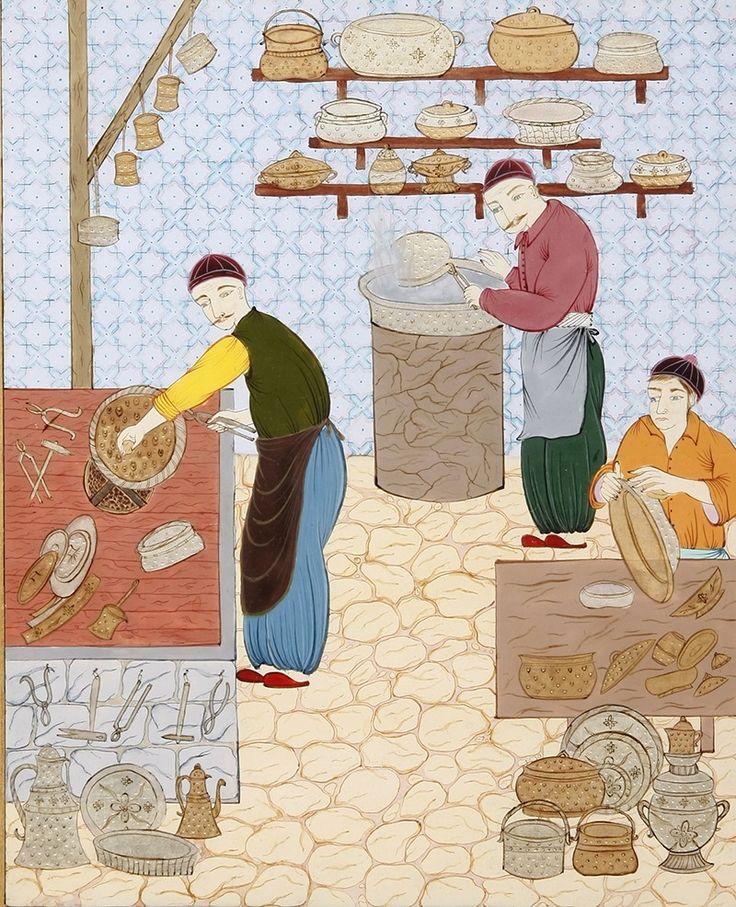 Osmanlı'da Ekmek Fırını Minyatür-Taner Alakuş Minyatür Atölyesi
