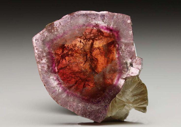 Tourmaline slice from Russia. Crystal Classics Minerals