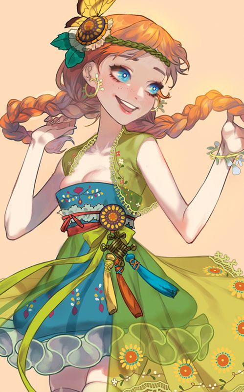 Love her dress (Hanbok inspired)
