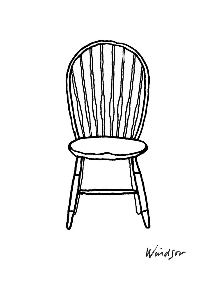 85 Reference Of Chair Simple Cartoon In 2020 Chair Drawing Art Chair Retro Furniture