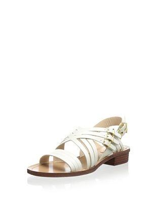 49% OFF Pour La Victoire Women's Alfie Flat Sandal (Off white)