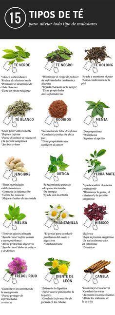 15 tés e infusiones para aliviar cualquier dolencia