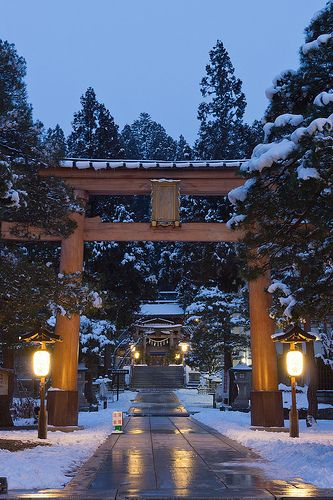 Lights to pray, Sakurayama Hachiman Shrine, Takayama, Gifu, Japan