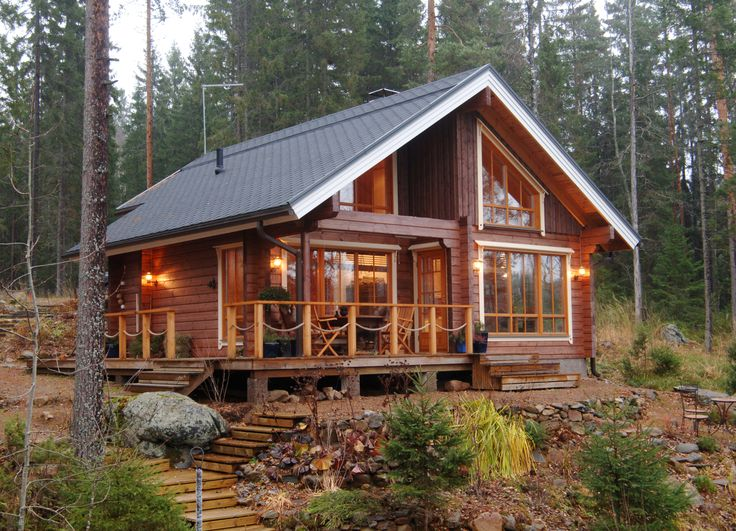 154 best log cabins and holiday homes images on pinterest for Traditional log cabin plans