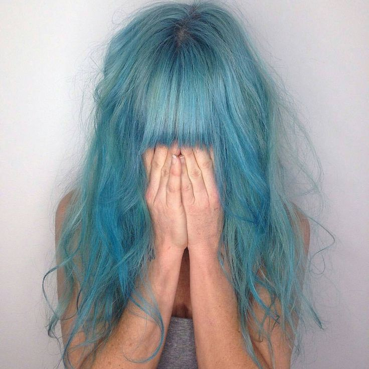 vibrant locks // hair // colour // hair dye // bright // aesthetic // grunge // pastel // blue