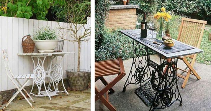 10 ideas de reciclaje de muebles con antiguas m quinas de for Reciclaje de muebles antiguos