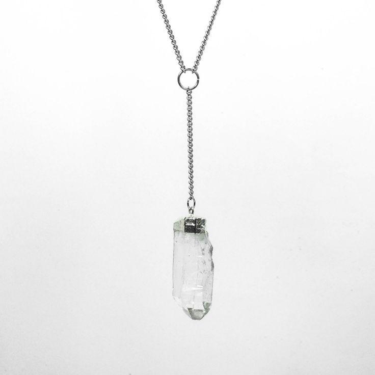 Lavinia Clear Quartz Droplet Necklace