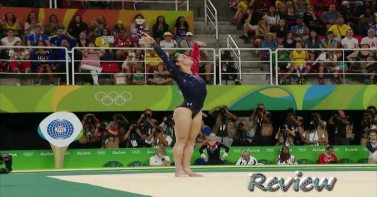 Olympic Gymnastics 2016 Rio: Aly Raisman Floor Routine Exercise Women's ...