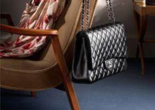 Vintage Chanel Black Quilted Leather Shoulder DoubleFlap Bag - Chanel - Brands | Portero Luxury