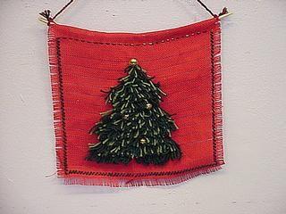 rya knot Christmas tree