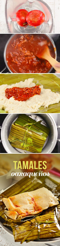 Los tamales oaxaqueños son tradicionales de Oaxaca, México. Se pueden hacer de pollo o cerdo, se acompañan de salsa roja o mole y se envuelven en hoja de plátano, Una receta perfecta para celebrar el Día de Muertos en el desayuno o en el Día de la Candelaria.