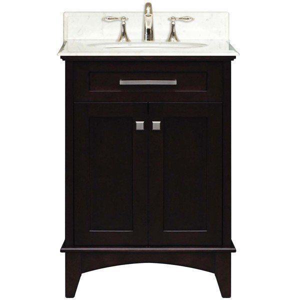 water creation manhattan collection 24 inch wide single sink vanity