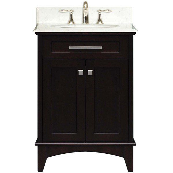 Water Creation Manhattan Collection 24 Inch Wide Single Sink Vanity