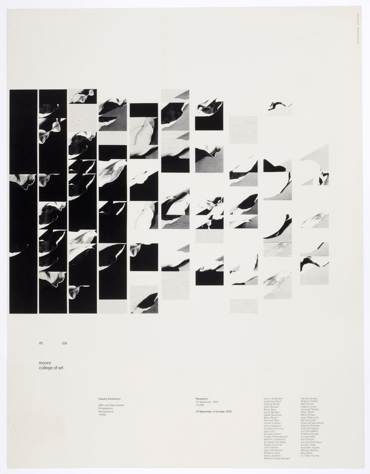 [Exhibition poster for Faculty Exhibition, Moore College of Art, Philadelphia]   International Center of Photography