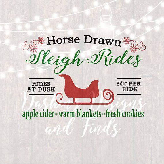 DIGITAL DOWNLOAD christmas svg sleigh ride svg farm svg