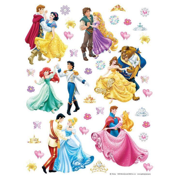 Hercegnők és szerelmük falmatrica XXL