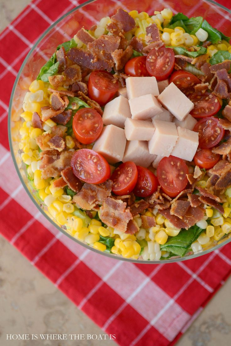Good Luck Layered Cornbread Salad | Home is Where the Boat Is