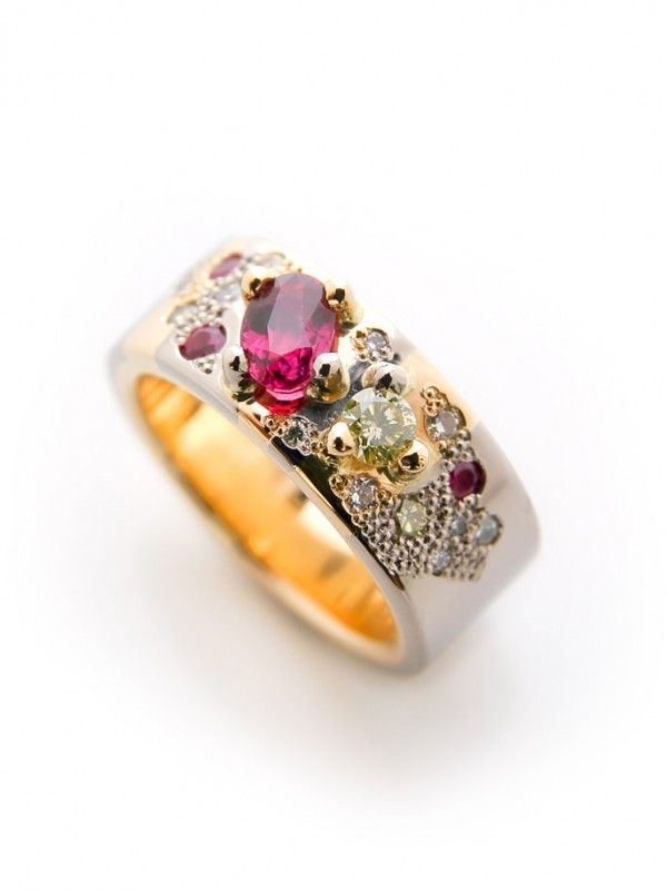 lemon ruby engagement ring by camilla gough 18ct yellow