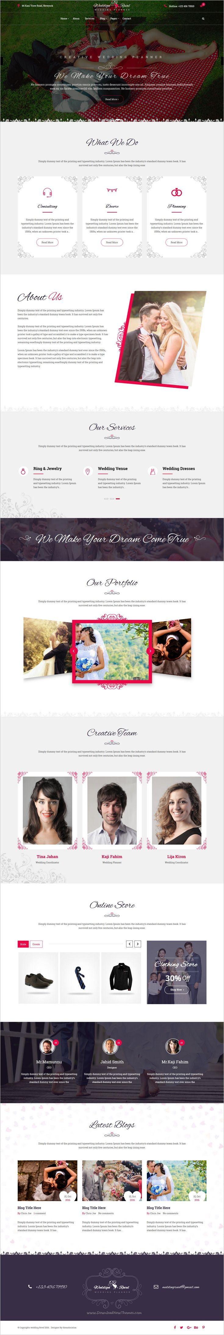 Wedding reval is beautifully design responsive 2in1 #WordPress theme for #wedding planner and #agency website download now➩ https://themeforest.net/item/wedding-reval-wedding-planner-agency-wordpress-theme/18575877?ref=Datasata