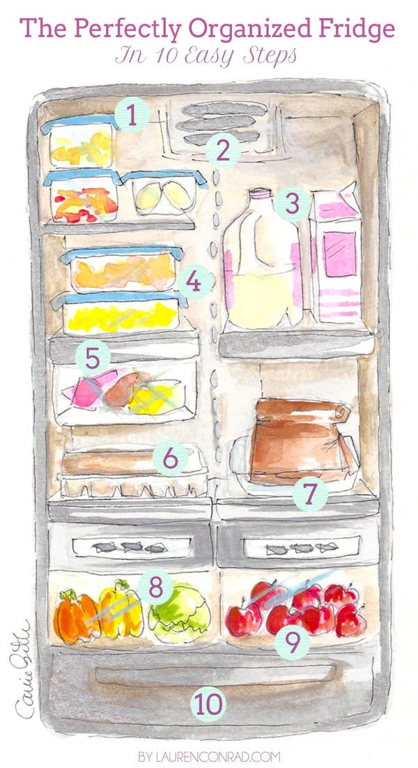 organized fridge from laurenconrad.com