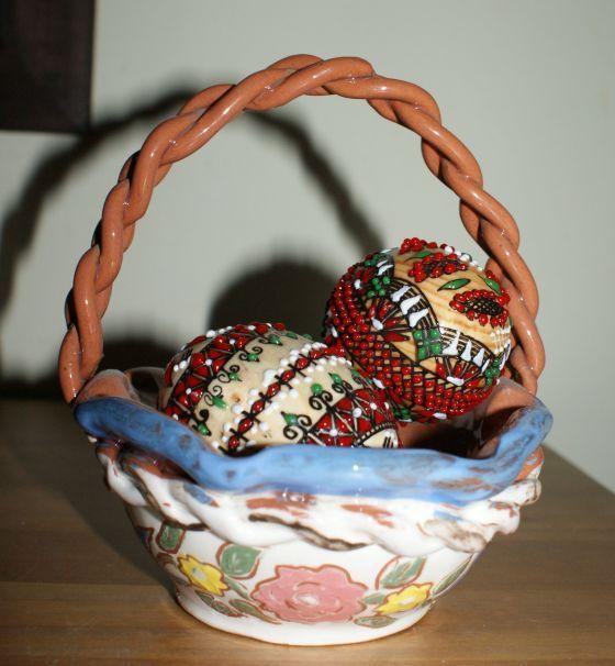 Cosulet decorativ din ceramica de Horezu