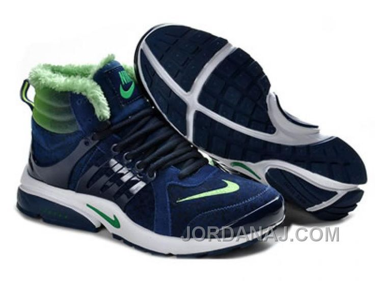 2013 Nike air presto - Uomo s High Boots Dark-Blu/Volt