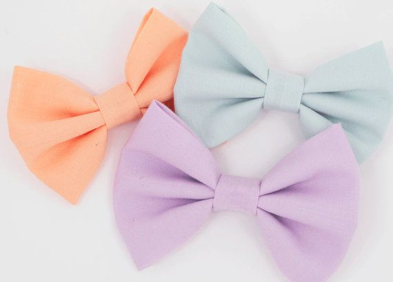 Fabric Hair Bow Pastel Set of Three Bows for by MySweetHarlow, $20.00