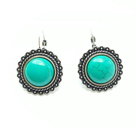 in my Etsy shop https://www.etsy.com/au/listing/252623573/turquoise-boho-lever-back-earings