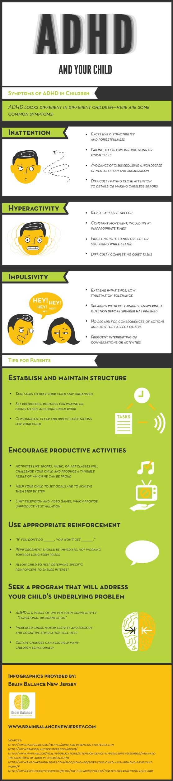 Hyperactivity displayed in rapid, excessive speech, constant movement or fidgeting, or difficulty completing quiet tasks could be symptoms of ADHD. This infographic from a learning center for ADHD in New Jersey offers more information on learning disorders.