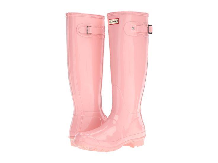 Spring Style Ideas. Pink Hunter rain boots.