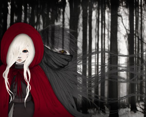Little red riding hood: Red Riding Hood, Little Red, Colour Redish, Riding Hood Tat, Hoods, Red Hood, Art Picts, Fairytale