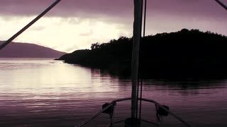 Bow point of view ship sailing into sunset Stock Video Footage ...