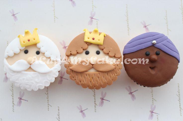 The Three Wise Men Cupcakes (Los Tres Reyes Magos)
