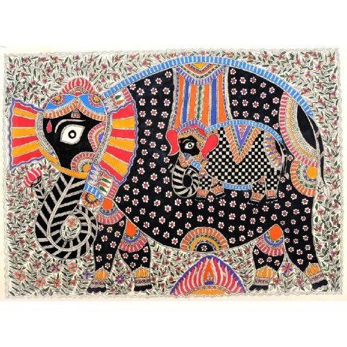 COLORED ELEPHANT DESIGN http://www.indiancraftsmen.com/art-c4ca4238a0b923820dcc509a6f75849b/madhubani/coloured-elephant-mbc0103