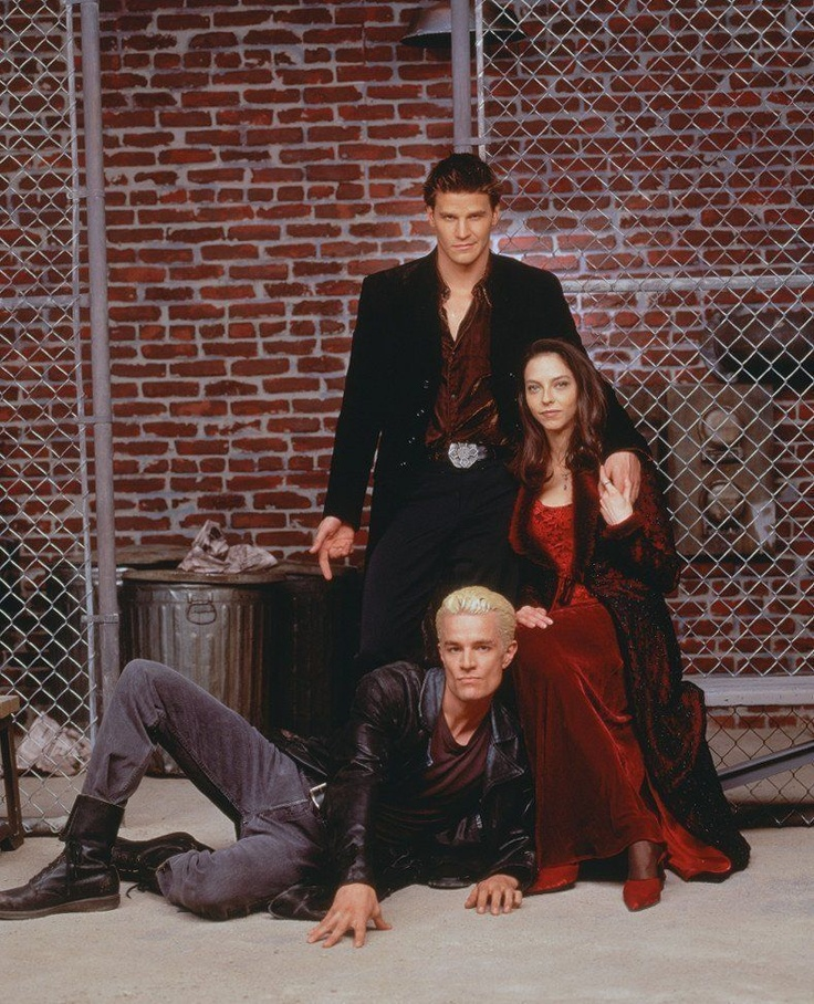Angel, Drusilla, and Spike- Spikes pose lol