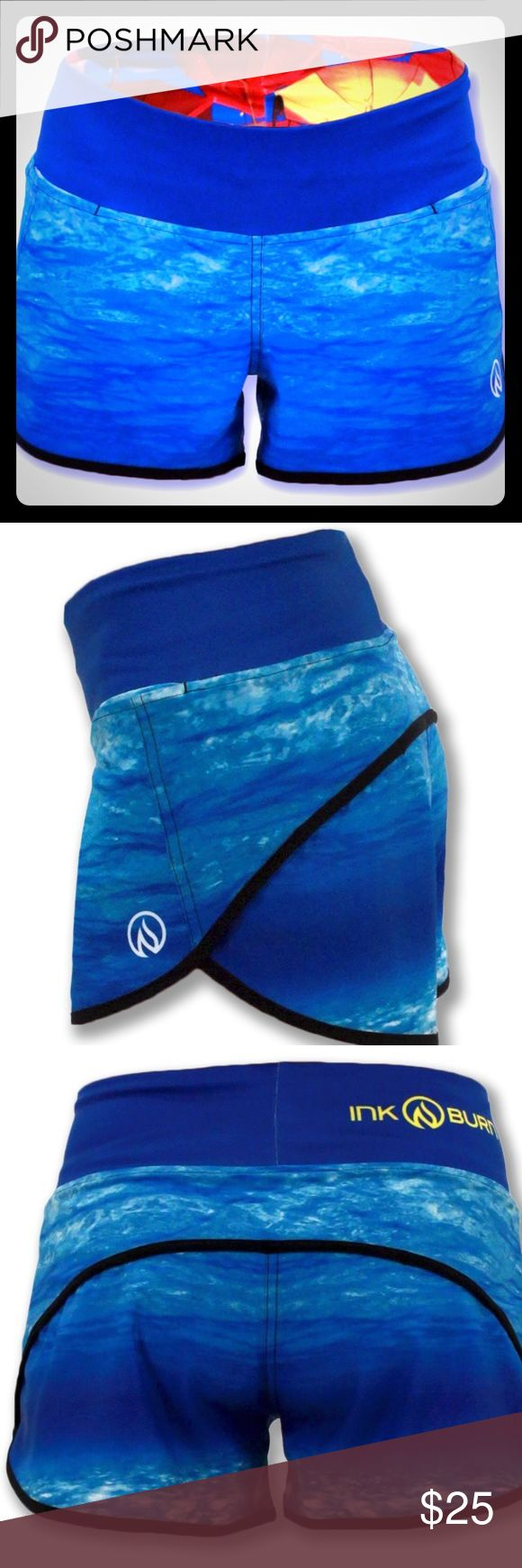InknBurn Water Shorts! Dry I.C.E. Super-Light, 4 Way Stretch Fabric Shorts. Super Comfy Moisture Wicking Panty. Wear 2-Way Waistband: Up for Flat Look or Fold Down for a Low Cut Look. Two Hidden Front Pockets (Big enough for an iPhone 6) Vibrant Lasting Color. Flat Seamed with SeamSoft Thread for Chafe Resistance. 100 Mile Ultra Tested InknBurn Shorts