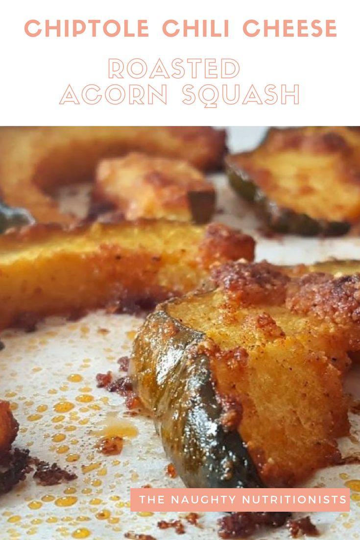 Delicious, cheesy, chili roasted acorn squash rounds. #naughtynutrition #acornsquash