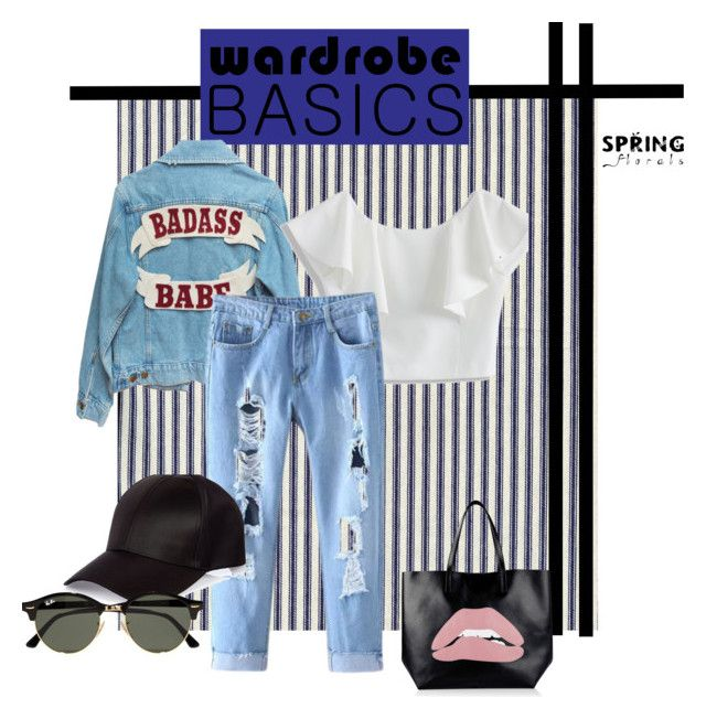 kredsy2 by justi-neczka on Polyvore featuring moda, Chicwish, RED Valentino, Ray-Ban and River Island