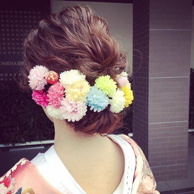 #和装  #和装ヘア  #和装婚  #ぴんぽんまむ  #花