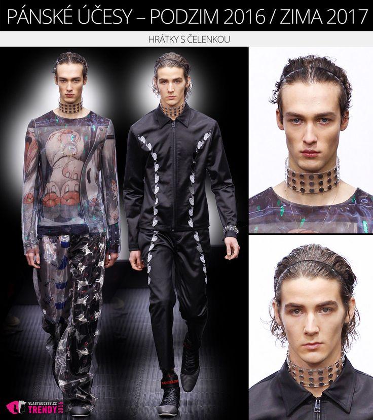 Víte, že wet efekt vám pomůže zamaskovat rychle se mastící vlasy a že silnější gelová tužidla a vosky umí dokonce maštění vlasů částečně zabránit? (Pánská móda F/W 2016/2017 z kolekce Tiger of Sweeden předvedená na londýnském Fashion Weeku.)