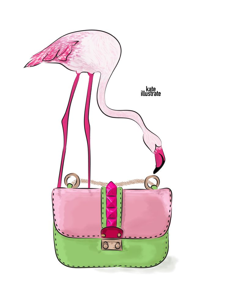 Flamingo Valentino bag