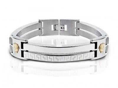 Versace Jewelry for Men | Versace Bracelets – Versace Bracelet For Men With 18k Plating ...